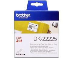Originálne etikety Brother DK-22225, papierová rola 38mm x 30,48m