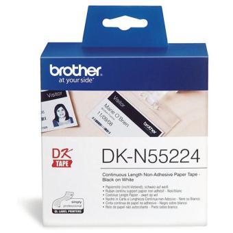 Originálne etikety Brother DK-N55224, papierová rola, nelepiace, 54mm x 30,48m