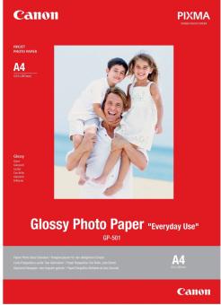 Fotopapier A4 Canon Glossy, 5 listov, 200 g/m2, lesklý, biely, inkoustový (GP-501)