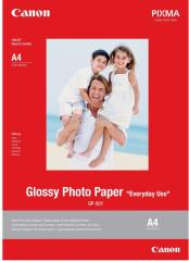 Fotopapier 10x15cm Canon Glossy, 50 listov, 210g / m2, lesklý, biely, inkoustový (GP-501)