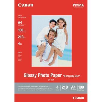 Fotopapier A4 Canon Glossy, 100 listov, 200 g/m2, lesklý, bielý, inkoustový (GP-501)