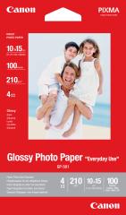 Fotopapier 10x15cm Canon Everyday Use, 100 listov, 210 g/m2, lesklý, bielý, inkoustový (GP-501)