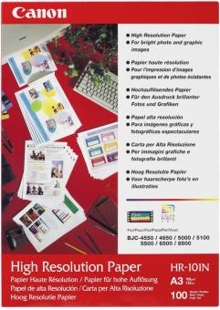 Fotopapier A3 Canon High Resolution, 100 listov, 106 g/m2, špeciálne vyhladený, biely, inkoustový (HR101A3)