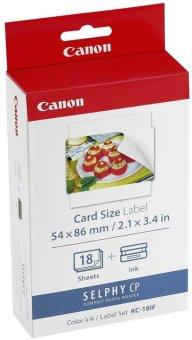 Etikety pre termosublimačné tlačiarne Canon 54x86mm, 18ks, nálepky (KC18IF)