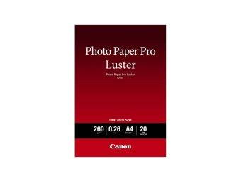 Fotopapier A4 Canon Pro Luster, 20 listov, 260 g/m2, lesklý, biely, inkoustový