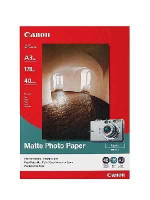 Fotopapier A3 Canon Matte, 40 listov, 170 g/m2, matný, bielý, inkoustový (MP-101)