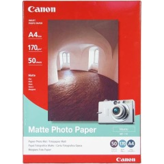 Fotopapier A4 Canon Matte, 50 listov, 170 g/m2, matný, biely, inkoustový (MP-101)