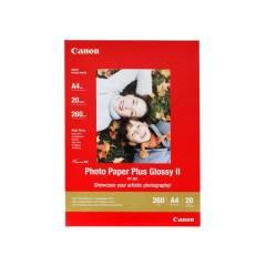 Fotopapier A4 Canon Plus Glossy, 20 listov, 260 g/m2, lesklý, biely, inkoustový (PP-201)