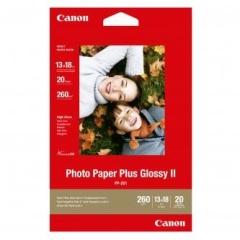 Fotopapier 13x18cm Canon Plus Glossy, 20 listov, 275 g/m2, lesklý, biely, inkoustový (PP-201)