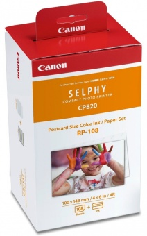 Fotopapier pre termosublimačné tlačiarne Canon 10x15cm, 108ks (RP-108)