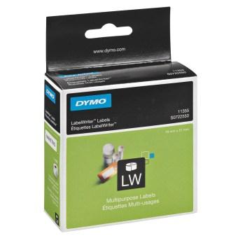 Originálne etikety DYMO 11355 (S0722550), 51mm x 19mm, čierna tlač na bielom podklade, 500ks