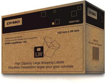 Originálné etikety DYMO S0947420, prepravné papierové štítky, 102mm x 59mm, čierna tlač na bielom podklade, 2x575ks
