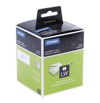 Originálne etikety DYMO 99012 (S0722400), 89mm x 36mm, čierna tlač na bielom podklade, 2x 260ks
