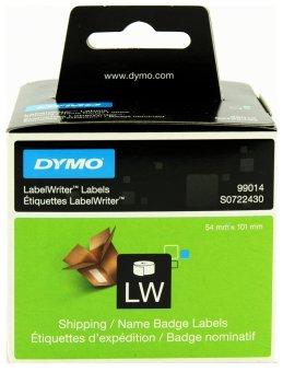 Originálne etikety DYMO 99014 (S0722430), 101mm x 54mm, čierna tlač na bielom podklade, 220ks