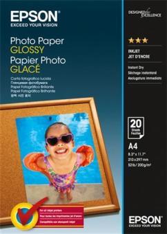 Fotopapier A4 Epson Glossy, 20 listov, 200 g/m2, lesklý, bielý, inkoustový (C13S042538)
