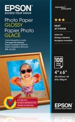 Fotopapier 10x15cm Epson Glossy, 100 listov, 200 g/m2, lesklý, bielý, inkoustový (C13S042548)