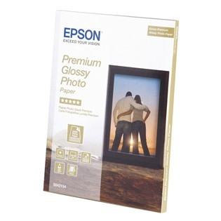 Fotopapier 13x18cm Epson Premium Glossy, 30 listov, 255 g/m2, lesklý, bielý (C13S042154)