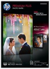 Fotopapier A4 HP Premium Plus Glossy, 50 listov, 300 g/m2, lesklý, bielý, inkoustový (CR674A)