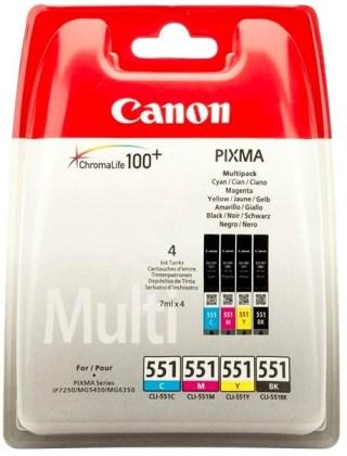 Sada originálných cartridge Canon CLI-551 (Čierna a farebná)