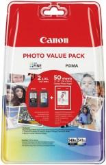 Sada originálných cartridge Canon PG-540XL+CL-541XL (Čierna a farebná) + fotopapier
