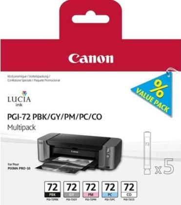 Sada originálných cartridge Canon PGI-72 PBK/GY/PM/PC/CO