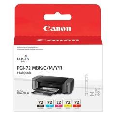 Sada originálných cartridge Canon PGI-72 MBk/C/M/Y/R