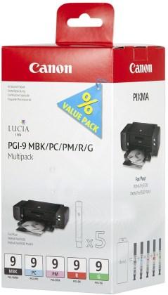Sada originálných cartridge Canon PGI-9MBK/PC/PM/R/G