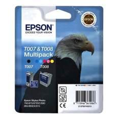 Sada originálných cartridge EPSON T007 a T008