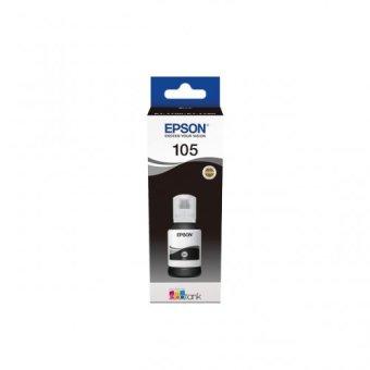 Originálna fľaša s atramentom EPSON 105 BK (C13T00Q140) (Čierna)