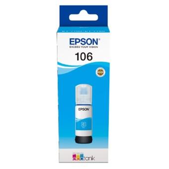 Originálna fľaša s atramentom Epson 106 C (C13T00R240) (Azúrová)