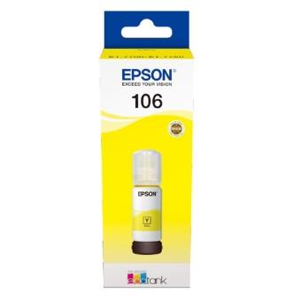 Originálna fľaša s atramentom Epson 106 Y (C13T00R440) (Žltá)