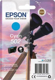 Originálna cartridge Epson 502 C (T02V2) (Azúrová)