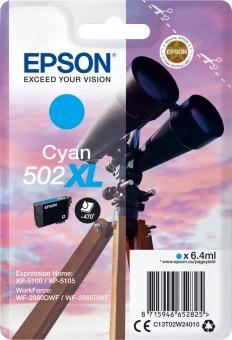 Originálna cartridge Epson 502 XL C (T02W2) (Azúrová)