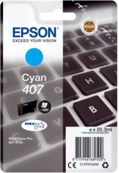 Originálna cartridge EPSON č. 407 (T07U2) (Azúrová)