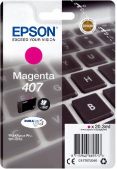 Originálna cartridge EPSON č. 407 (T07U3) (Purpurová)