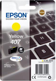 Originálna cartridge EPSON č. 407 (T07U4) (Žltá)
