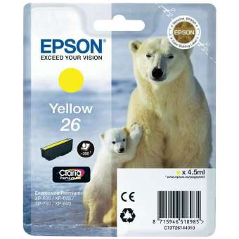 Originálna cartridge EPSON T2614 (Žltá)