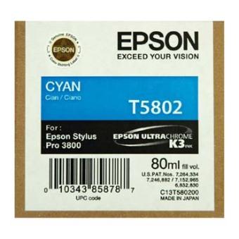 Originálna cartridge EPSON T5802 (Azúrová)