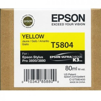 Originálna cartridge EPSON T5804 (Žltá)