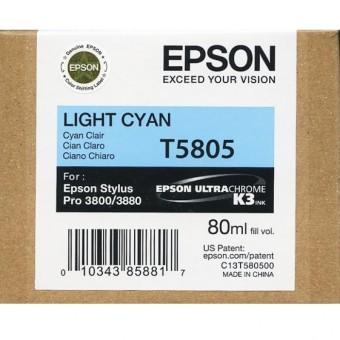 Originálna cartridge EPSON T5805 (Svetlá azúrová)