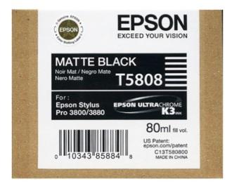 Originálná cartridge EPSON T5808 (Matne čierna)