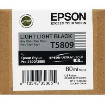 Originálná cartridge EPSON T5809 (Svetlo svetlo čierna)