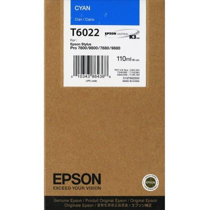 Originálna cartridge EPSON T6022 (Azúrová)