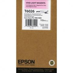 Cartridge do tiskárny Originálna cartridge Epson T6026 (Naživo svetlo purpurová)