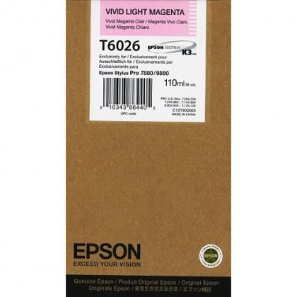 Originálna cartridge Epson T6026 (Naživo svetlo purpurová)