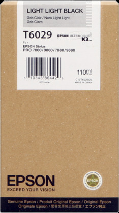 Originálna cartridge Epson T6029 (Svetle svetlo čierna)