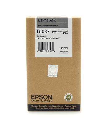 Originálna cartridge Epson T6037 (Svetle čierna)