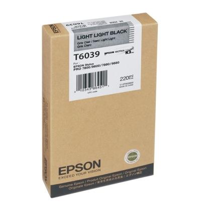 Originálna cartridge Epson T6039 (Svetle svetlo čierna)