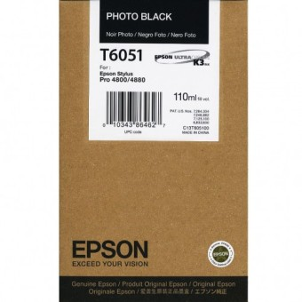 Originálná cartridge EPSON T6051 (Foto čierna)
