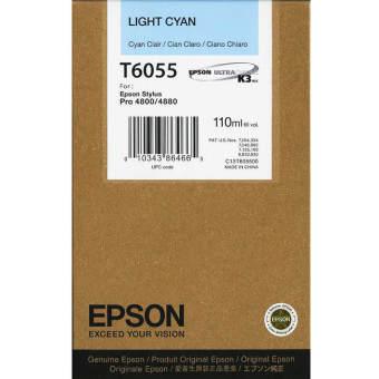 Originálna cartridge EPSON T6055 (Svetlo azúrová)